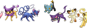 feline pokemon by Domiric