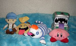 Videogame plushies Misc Kirby, Layton Dragon Quest by kratosisy