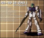 RGM-79SP GM Sniper II white dingo custom profile by zeiram0034