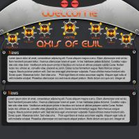 Axis Of Evil Web Template by BreconJordan