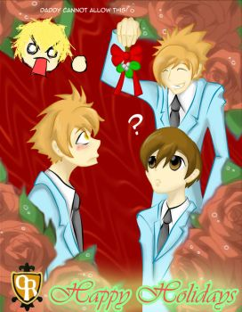 Ouran- Happy Holidays by StormTitan