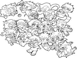 Homestuck characters-lineart by Rena-Muffin