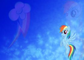 Rainbow Dash wallpaper by Piechocinek