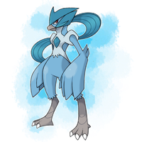 Pokemon: P/E/N Articuno Corporeal Form by Pokedro