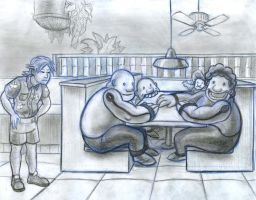 Gluttony table of four by CamT