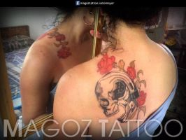 skull and roses by magozo