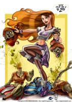 Zombies vs Cheerleader FINAL by Axigan