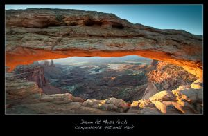 Mesa Arch At Dawn by brentbat