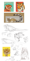 Animals sketches 2 by Drkav