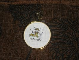 Cross Stitch Snowman by Enithien