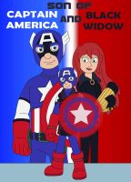 Son of Captain America and Black Widow by MCsaurus