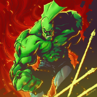 Savage Dragon by Mikuloctopus