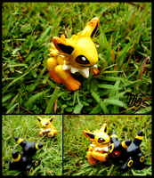 Jolteon semi-poseable figure by MileniaKitsuvee