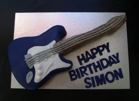 Electric Guitar Cake by sparks1992