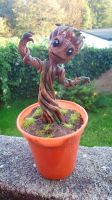 SOLD Baby Groot Custom Sculpture 2- GOTG by stephanie1600