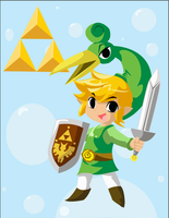 Toon Link vector by bluesharingan07