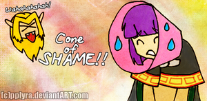 Slayers cone of shame xD by PPLyra