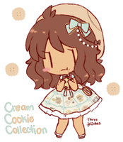 Cream Cookie Collection by threewiishes
