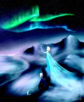 Frozen - the Northern Lights by BrimRun