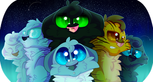 Warrior Cats: The Three and Company by ThePointlessArtist