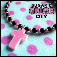 Naughty School Girl Beaded Rave Choker by SugarAndSpiceDIY