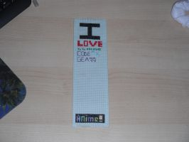 I Love Anime Book Mark WIP 1 by dottypurrs1