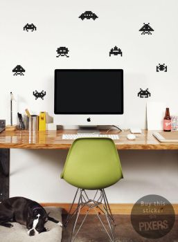 Space Invaders Wall Decals by PIXERSIZE