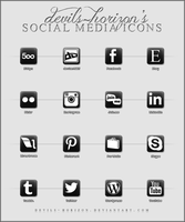Black + White - Social Media Icons by devils-horizon
