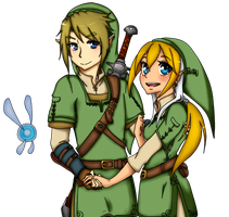Link and Kylee by KarinMaaka07