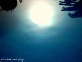 sunset in the water... by jashxxx