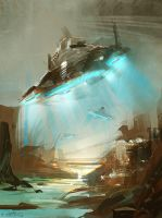 blue travel by Pierrick