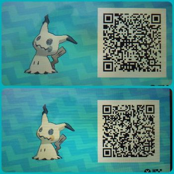 Mimikyu normal and shiny Qr Code by toxicsquall