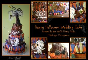 Halloween Wedding Cake by MillerTime30