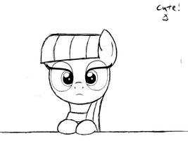 Cutie Maud (sketch) by HeavyMetalBronyYeah
