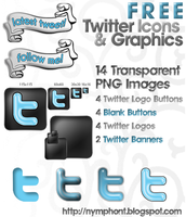 Twitter Logo Icons + Graphics by nymphont