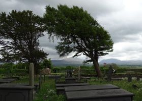 Churchyard and some trees by UdoChristmann