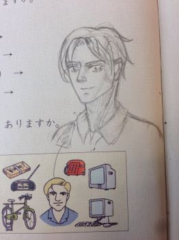 Random art on a Japanese textbook  by Leffu