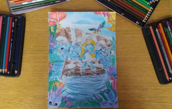The Smurfs: The lost village by DanloS