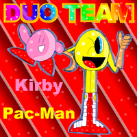 Duo Team-Kirby and Pacman by zigaudrey