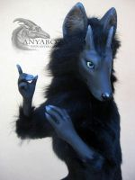 Monty the Wolf Room Guardian by AnyaBoz