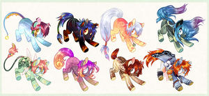 Pony Adopts Batch 11 - 2/8 OPEN by Tea-Adoptables