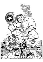 HULK vs THE AVENGERS by LostonWallace