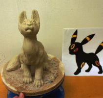 Umbreon sculp spin uncolored by Vattukatt