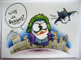 The Dark Knight Penguin-esque by ordinarypoet