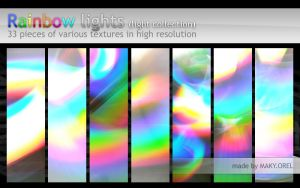 TEXTURES: Rainbow lights (light collection) by MAKY-OREL
