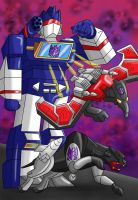 Soundwave and the Cassettes by KarToon12
