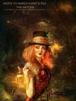 invite to march hare's hatter by JenaDellaGrottaglia