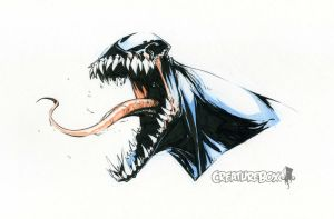 Venom Head Sketch by CreatureBox