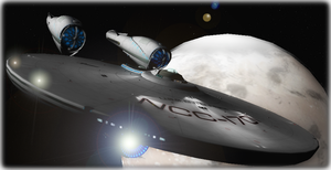 Starships In Perspective: 2009 Enterprise by DarthAssassin