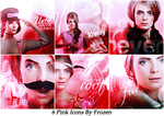 6 Pink Icons by ItsFrozen